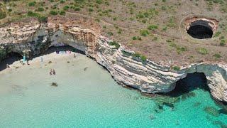 la meravigliosa baia del mulino d'acqua a Otranto