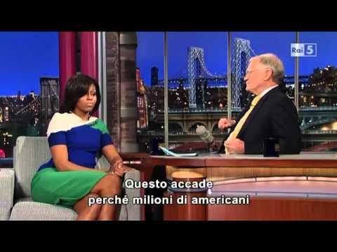 Michelle Obama David Letterman Interview