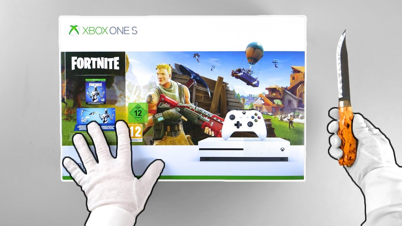 Xbox One 'FORTNITE' Console Unboxing (Eon Skin Bundle) Battle Royale Solo Victory Gameplay