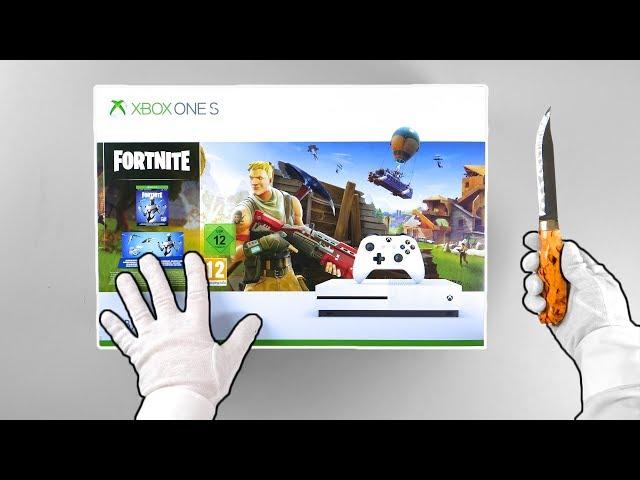 Xbox One Fortnite Console Unboxing Eon Skin Bundle Battle Royale