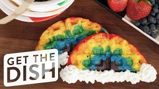 How to Make Rainbow Waffles | Eat the Trend