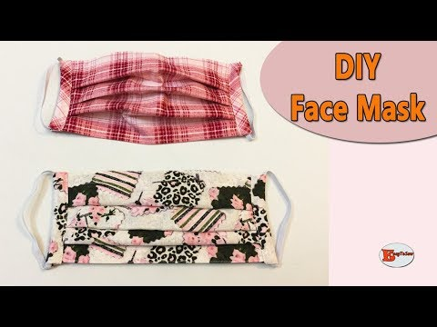 HOW TO MAKE FACE MASK WITH FILTER POCKET AND ADJUSTABLE WIRE/FACE MASK SEWING TUTORIAL/FACE MASK DIY