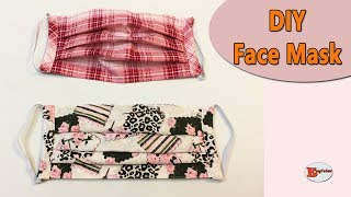 HOW TO MAKE FACE MASK WITH FILTER POCKET AND ADJUSTABLE WIRE SEWING TUTORIAL
