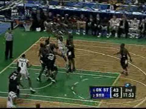 Carmelo Anthony takes it to the hole vs. Oklahoma St. 2003 NCAA Tournament
