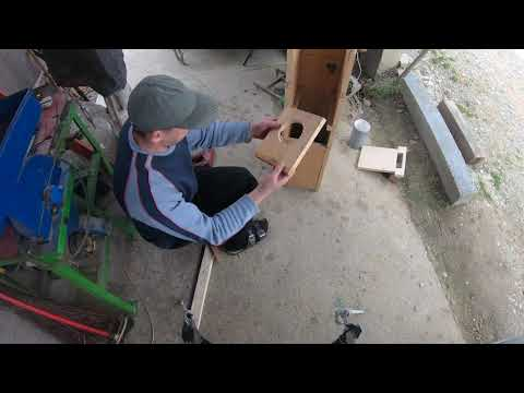 Simplest briquette press made 100% of wood
