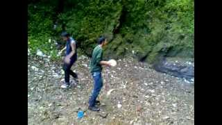 Playing football - Chadwick falls Shimla