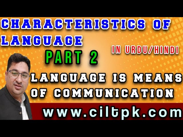 Characteristics of language 2