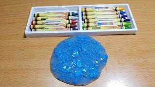 Cách Làm Slime Với Sáp Màu Đơn Giản ! Diy Slime With Crayons