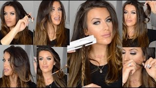 Download How to CURL and WAVE hair using FLAT IRON hair straighteners by Corioliss Mp3 and Videos