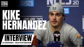 Watch as kike hernandez reacts to dodgers game 7 win, coming back from 3-1 & homer off aj minter#kikehernandez #dodgers #nlcsdon't forget subscribe fan...