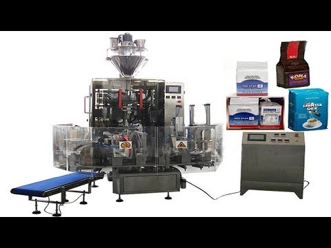 Hexahedral bags vacuum filling packaging machinery food powder granules automated production line