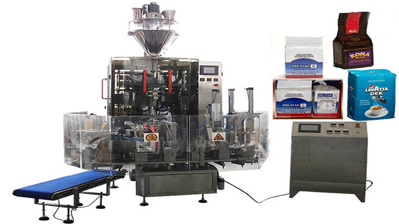 Hexahedral Bags Vacuum Filling Packaging Machinery Food
