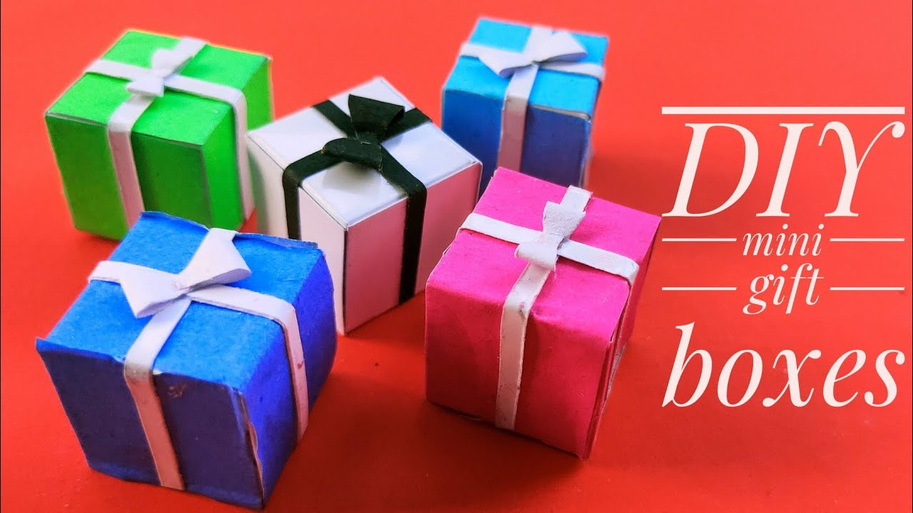 Christmas Special Mini Gift Boxes With Paper Christmas Decoration Ideas Christmas Ornaments Prachi Youtube