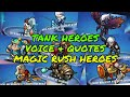 Magic Rush : Voice And Quotes Of Tank Heroes