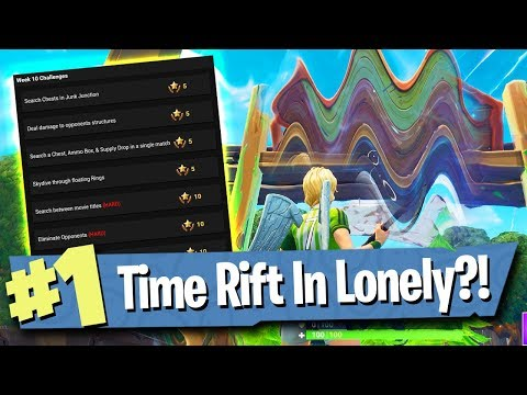 Fortnite Week 10 Challenges Leaked + Lonely Lodge Time Rift / Portal?!