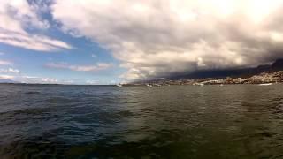 Longboard surf session in Tenerife
