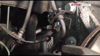 Renault Laguna III - FRONT - Передние амортизаторы KYB установка