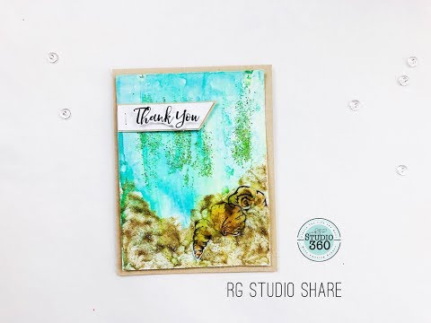 How to Create a Mix Media Background for Card Makers!