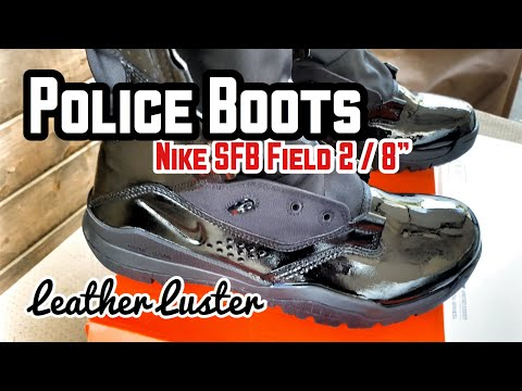 【REVIEW 22】Applying Leather Luster To Police Boots | Nike SFB Field 2 8