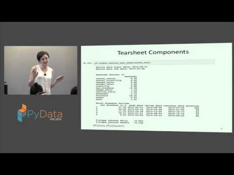Dr Jessica Stauth: Portfolio and Risk Analytics in Python with pyfolio