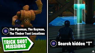 All TRICK SHOT MISSIONS and REWARDS on Fortnite Chapter 2 Season 1...
