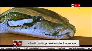 الحياة أحلى | تقرير ولقطات تشاهدها للمرة الأولى: مريم ذات الـ7 سنوات التي عشقت تربية الثعابين!!