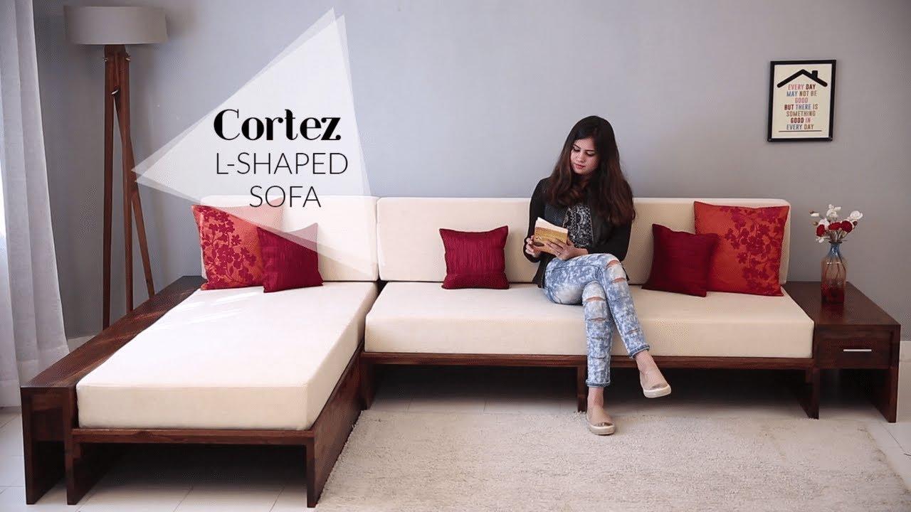 Sofa Set: Cortez L Shaped Sofa Set | Sofa Set Designs For Living Room 2019 | Sofa Set Online - YouTube