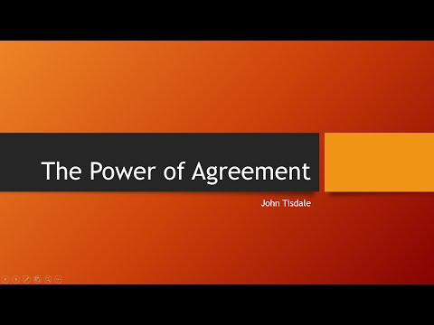The Power Of Agreement by John Tisdale