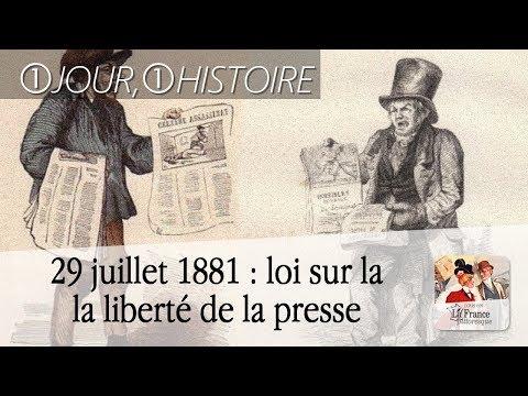 29 juillet 1881 : loi sur la liberté de la presse