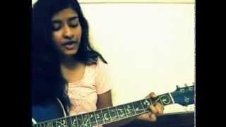 """Rock on""-Phir dekhiye ,acoustic cover by sravani.{D,Em,Bm,G}"