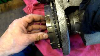 bsa b25ss clutch showing movement and wear