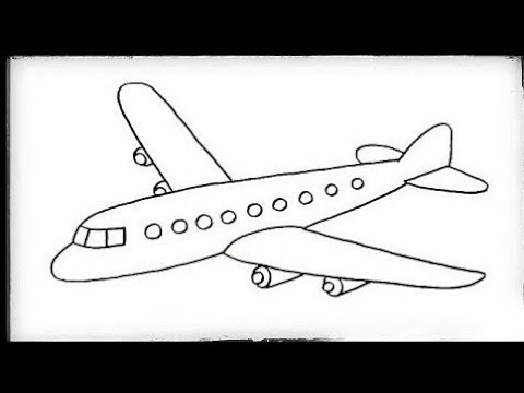 Aeroplane Drawing | How to Draw Aeroplane Easy step by ...