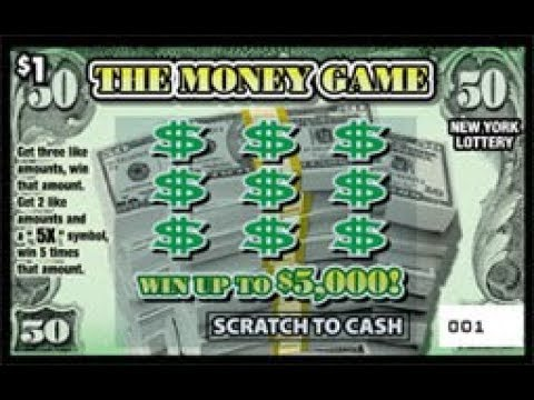 $1 - THE MONEY GAME! WIN! Ticket NYS Lottery Scratch Off instant! BRAND NEW TICKET WIN!