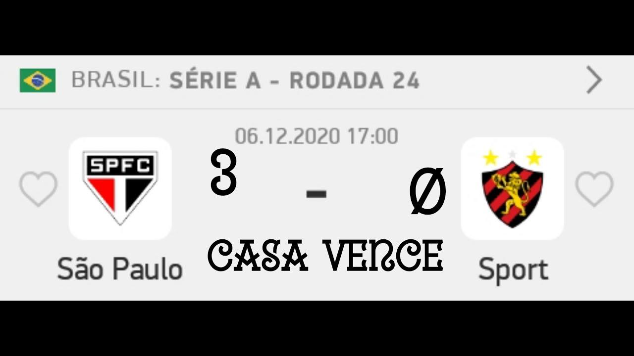 Palpites De Futebol Para Hoje Dia 06 12 2020 Sao Paulo X Sport Recife Placar Exato Youtube
