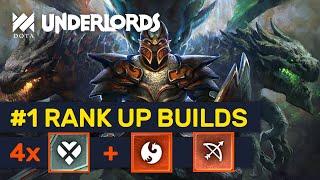 #1 RANK UP BUILDS! New Meta Heartless Dragon Hunters! | Dota Underlords