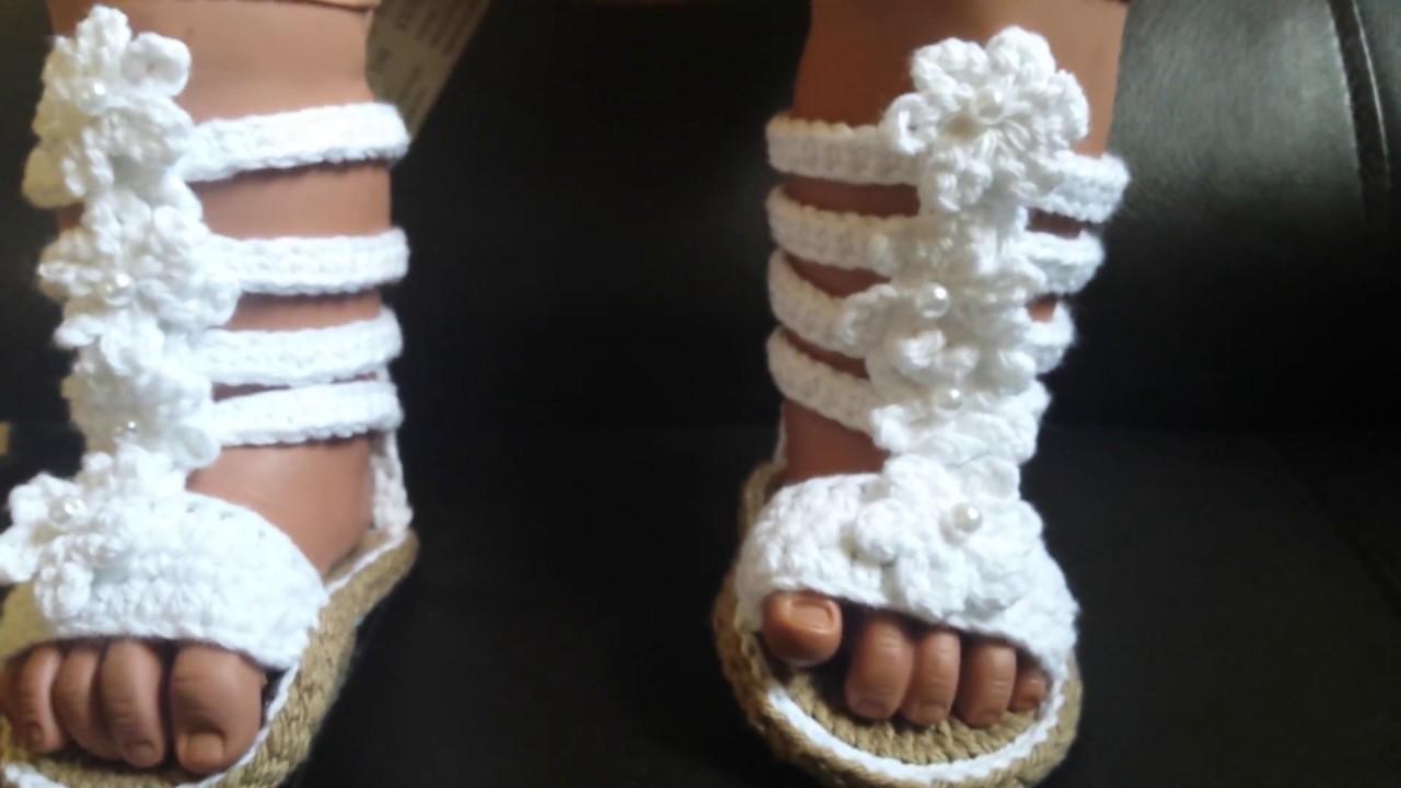 796576d5a0e03 Baby Crochet Gladiator Sandals