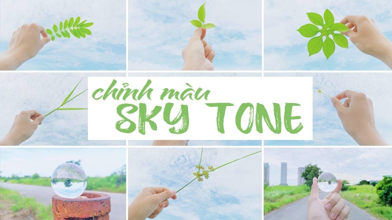 Chỉnh màu Sky tone, mây trời trong trẻo trên VSCO và Snapseed