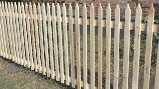 Как сделать забор из штакетника(Как я делал забор из штакетника..., 2015-08-20T18:06:29.000Z)