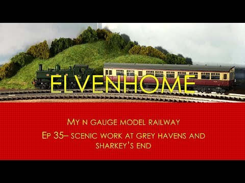 N Gauge Model Railway Scenery – Gardening and building a hill side EP35