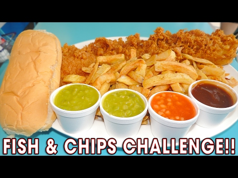 DELICIOUS FISH N CHIPS CHALLENGE!! (WIN #400)