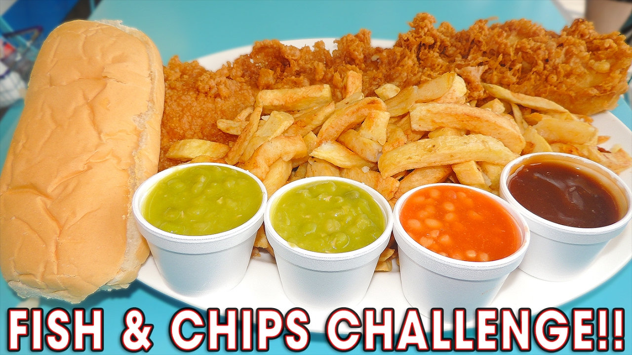 delicious fish n chips challenge win 400 youtube. Black Bedroom Furniture Sets. Home Design Ideas