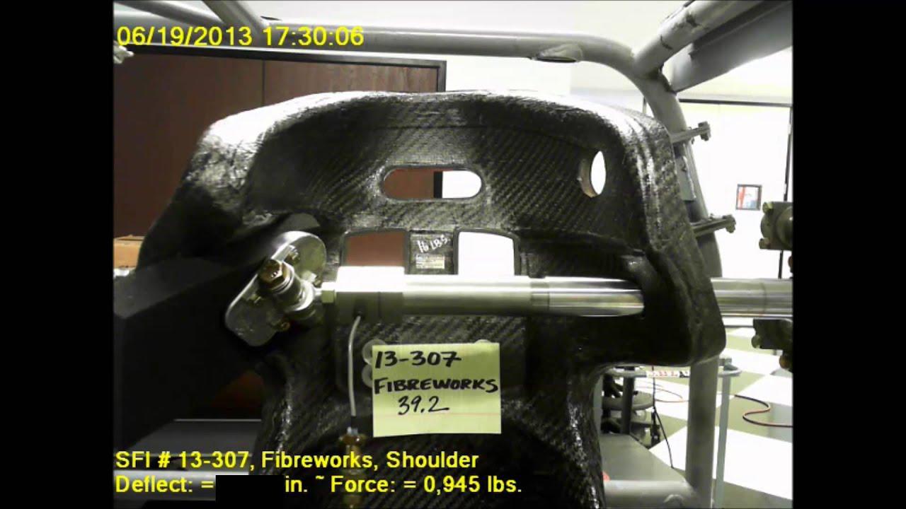 Fibreworks Composites - Sprint Car Seat SFI Test - YouTube