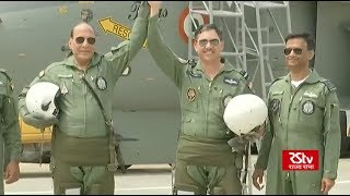 Defence Minister Rajnath Singh flies in LCA Tejas