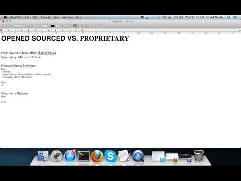 Opened Sourced vs. Proprietary Software