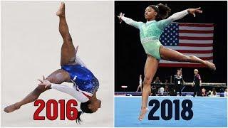 Simone Biles: 2016 vs. 2018 | Floor Exercise