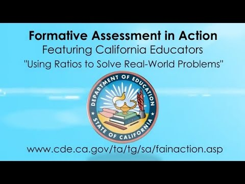 Using Ratios to Solve Real-World Problems (CA Dept of Education)