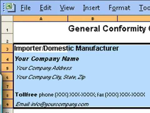 Downloadable  Template  CertificateOfConformity  Youtube