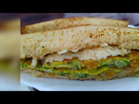 Cheesy bread omelette/egg omelette receipe/bread egg