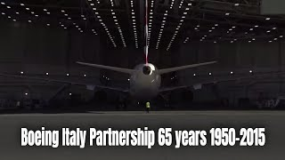 Boeing Italy Partnership 65 years 1950-2015