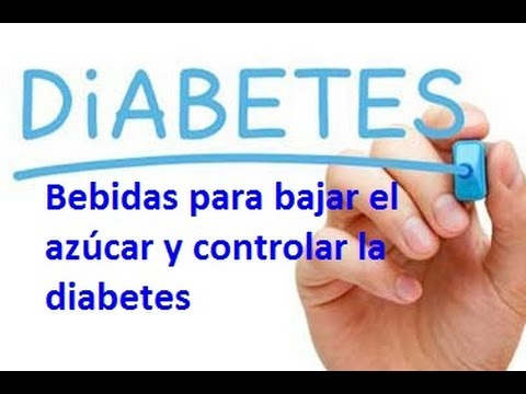 Bebidas para bajar el azucar y controlar la diabetes